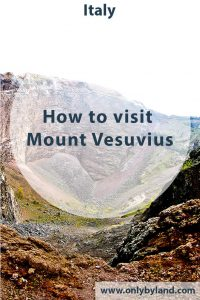 A day trip to Mount Vesuvius from Pompei or Naples. How to take the local bus to the crater of Mount Vesuvius Volcano.