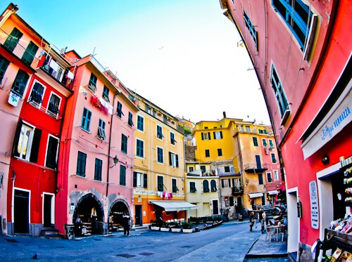 The streets of Vernazza, Cinque Terre, Italy