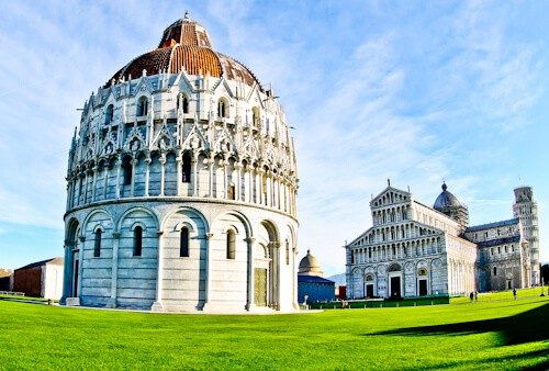 Pisa Baptistery, cemetery and cathedral Italy