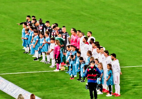 Napoli match day experience - Stadio Sao Paolo - Naples - pre match line up
