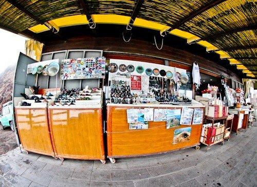 Mount Vesuvius Volcano - souvenir store