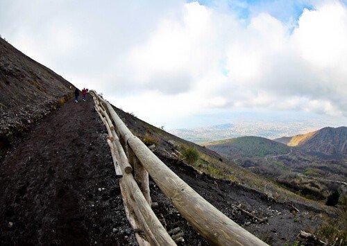 Mount Vesuvius Volcano - walking up to Vesuvius Volcano