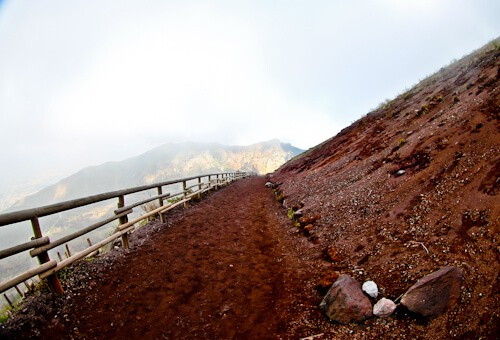 Mount Vesuvius Volcano - Hiking down Mount Vesuvius