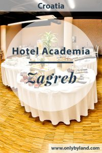 Where to stay in Zagreb? Hotel Academia Zagreb is located in the center of Zagreb. It's a modern hotel within walking distance of all Zagreb points of interest. There's a huge conference hall for business travelers. Free parking is offered for all hotel guests.