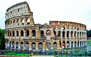 Colosseum, Flavian Amphitheater in Rome, Italy - location