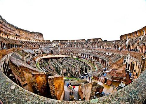 Colosseum, Flavian Amphitheater in Rome, Italy - underground (Hypogeum)
