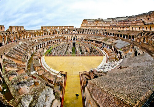 Colosseum, Flavian Amphitheater in Rome, Italy - arena