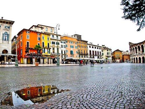 Bra Square (Piazza Bra) in the UNESCO city of Verona