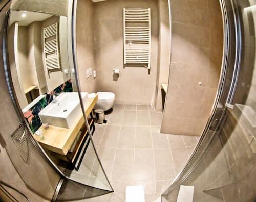 Hotel Academia Zagreb, Croatia - guest bathroom