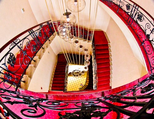 Hotel Central Osijek, Croatia - staircase