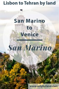 A visit to the points of interest of San Marino including Guaita Tower, Cesta Tower, Montale Tower, Public Palace, San Marino Basilica, Museums of San Marino, Cable Car, City Gates before taking the bus to Rimini, then Venice