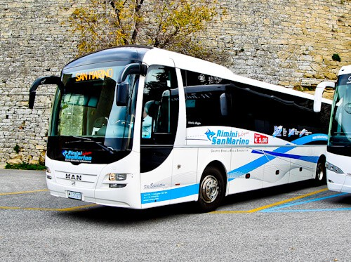 bus from San Marino to Rimini