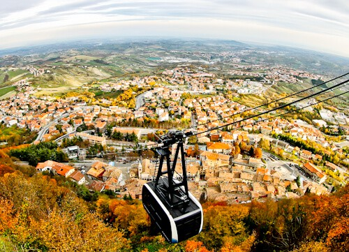San Marino Cable Car between San Marino and Borgo Maggiore