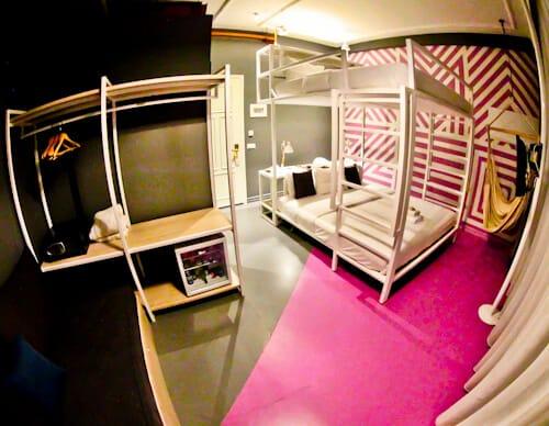 Colors Urban Hotel Thessaloniki Greece - travel blogger review - XL Loft Guest Room