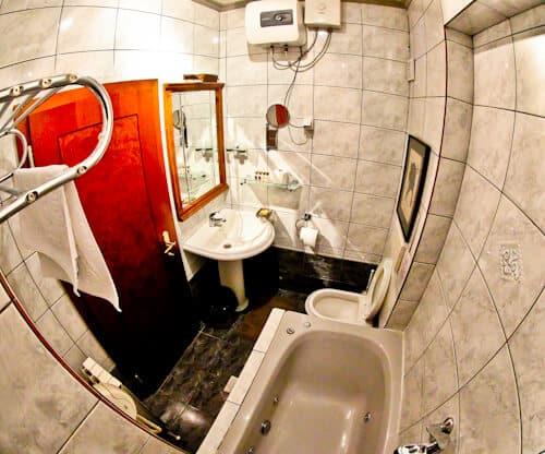 Hotel Elsa Skopje, Macedonia, Travel Blogger Review - guest en suite bathroom