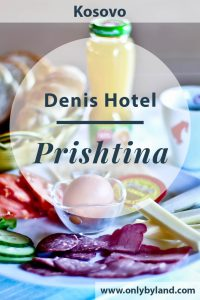 Where to stay in Prishtina, the capital of Kosovo. Denis hotel is located in the embassy and business district of the city. It's within walking distance of the city center, the famous NEWBORN sign, Bill Clinton Statue and Mother Teresa cathedral. You'll find an onsite restaurant serving fresh, delicious food. An added bonus is that the staff are super friendly.