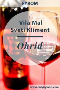 Vila Mal Sveti Kliment is a bed & breakfast and winery in Ohrid, Skopje. It offers balcony views of the UNESCO lake Ohrid. In addition to being a hotel it is also a winery. The wine is produced on site and guests receive a complimentary welcome glass.