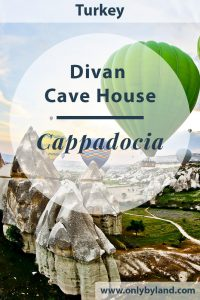 Cappadocia Hotels - Divan Cave House is a Cappadocia cave hotel with a terrace offering views over Goreme. From the terrace you can make those stunning Instagram photos with the hot air balloons in the background.
