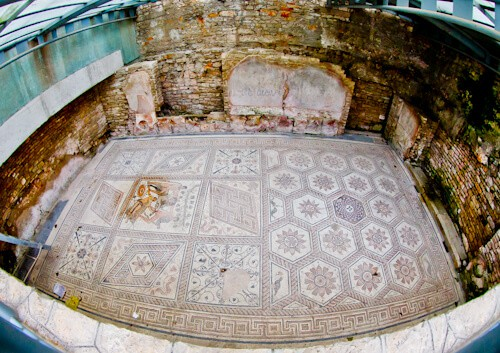 Floor Mosaic - The Punishment of Dirce, Pula