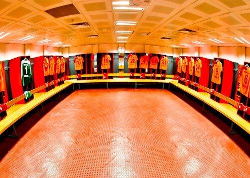 Galatasaray - Stadium Tour - Turk Telekom Stadium - home team dressing room