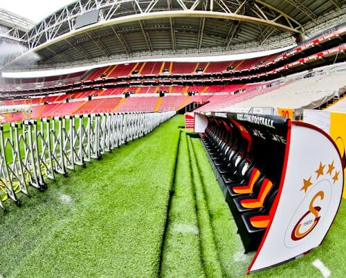Galatasaray - Stadium Tour - Turk Telekom Stadium - pitch side - dugout