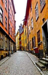Alley in Gamla Stan, Stockholm