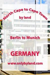 Berlin to Munich