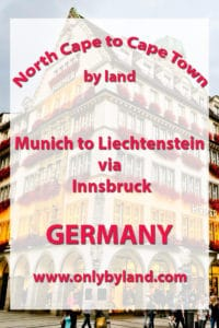 Munich to Liechtenstein via Innsbruck