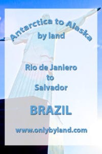 A visit to the points of interest in Rio De Janiero including Copacabana and Ipanema beaches, Christ the Redeemer, Sugarloaf mountain, Rio Harbor (natural wonder of the world), Maracanã stadium, Rio Centro, Corcovado, Botafogo, Selaron Steps (Escadaria Selarón), Carioca Aqueduct in Lapa, nightlife before taking the overnight bus to Salvador