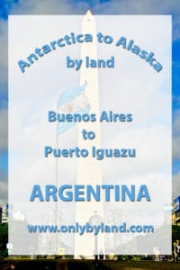 A visit to the points of interest of Buenos Aires including La Recoleta Cemetery, La Boca, Colón Theater (Teatro Colón), Plaza de Mayo, and the Pink Palace (La casa rosada), MALBA, Obelisco de Buenos Aires before taking the overnight bus to Puerto Iguazu