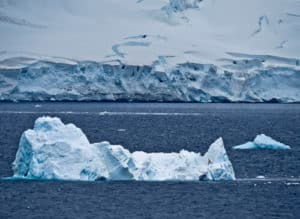 Icebergs and Glaciers in Paradise Bay, Antarctica