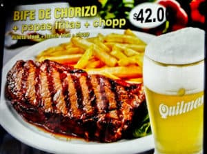 Steak and chips, Buenos Aires