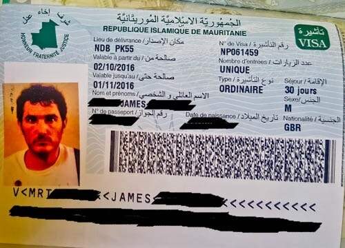 Mauritania visa on arrival
