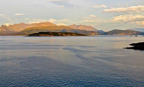 A fjord close to Skjervoy