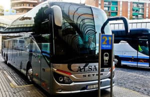 Alsa overnight bus from Barcelona to Madrid
