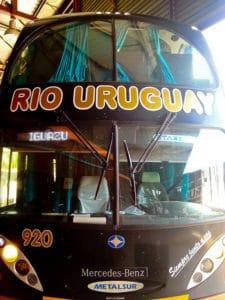 Buenos Aires to Puerto Iguazu overnight bus - 17 hours - 868 pesos