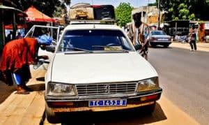 Bush taxi - Dakar to Tambacounda - 9500 francs