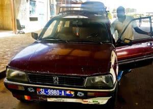 Bush taxi - St Louis to Dakar - 6000 Francs