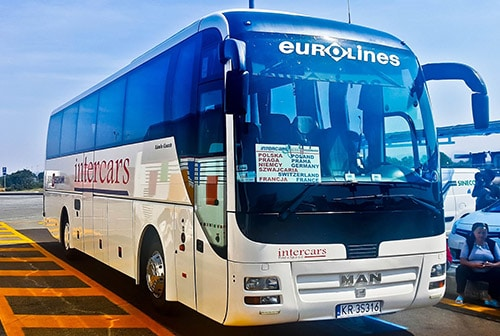 Eurolines bus from Zurich to Nice via Milan