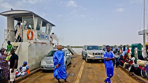 Ferry over the Senegal River in Rosso - Free