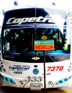 Overnight bus from Bucaramanga to Medellín, 8 hours, 80,000