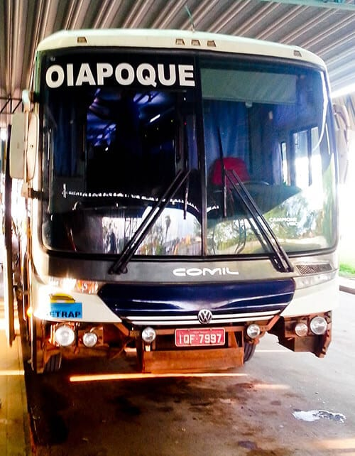Overnight bus from Macapá to Oiapoque, 10 hours, 99 Reais