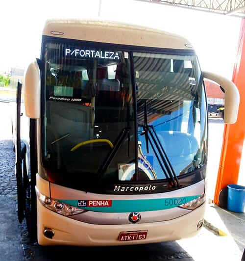 Overnight bus from Salvador to Fortaleza, 21 hours, 206.50 Reais