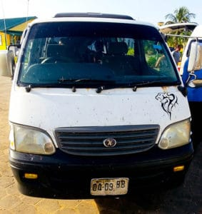 Shared minivan from Suriname to Georgetown, 100 Suriname dollars