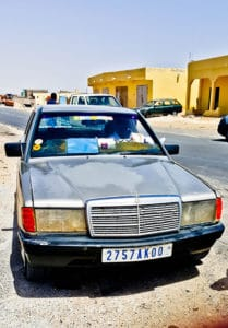 Taxi 2 - border to Nouadhibou (included in 350 Dirham)
