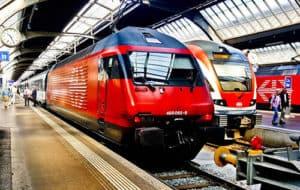 Train from Sargans to Zurich
