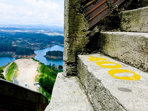 Medellin Colombia - Things to do - You don't have to count the steps on the The Rock of Guatape