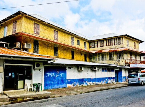Cayenne French Guiana - French colonial buildings