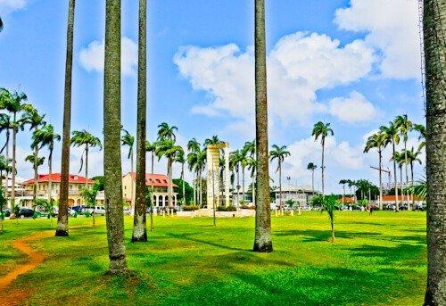 Cayenne French Guiana - Place des Palmistes - Alexandre Franconie museum