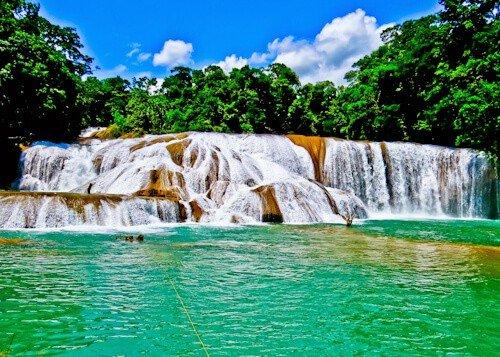 Aguas azules, Chiapas, Mexico